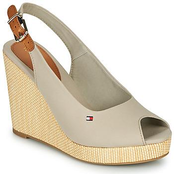 鞋子 女士 凉鞋 Tommy Hilfiger ICONIC ELENA SLING BACK WEDGE 灰色