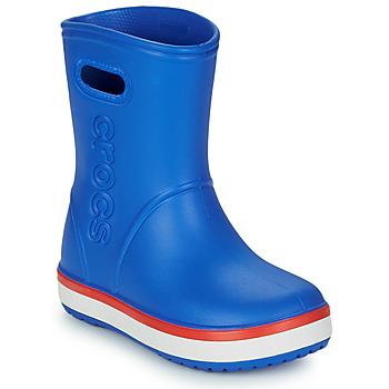 鞋子 儿童 雨靴 crocs 卡骆驰 CROCBAND RAIN BOOT K 蓝色 / 红色