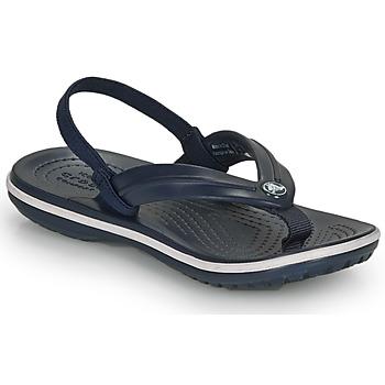 鞋子 儿童 凉鞋 crocs 卡骆驰 CROCBAND STRAP FLIP K 海蓝色