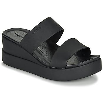 鞋子 女士 凉鞋 crocs 卡骆驰 CROCS BROOKLYN MID WEDGE W 黑色