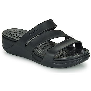 鞋子 女士 休闲凉拖/沙滩鞋 crocs 卡骆驰 CROCS MONTEREY WEDGE W 黑色