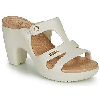 鞋子 女士 休閑涼拖/沙灘鞋 crocs 卡駱馳 CYPRUS V HEEL W 白色
