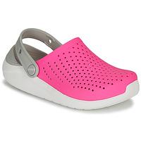 鞋子 女孩 洞洞鞋/圆头拖鞋 crocs 卡骆驰 LITERIDE CLOG K 玫瑰色 / 白色