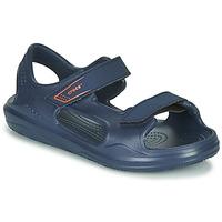 鞋子 儿童 运动凉鞋 crocs 卡骆驰 SWIFTWATER EXPEDITION SANDAL K 海蓝色
