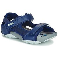 鞋子 儿童 凉鞋 Camper 看步 OUS 蓝色 / 海蓝色