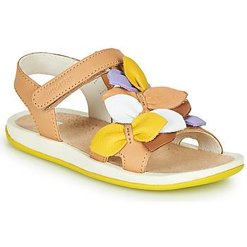 鞋子 儿童 凉鞋 Camper 看步 TWINS 棕色 / 黄色