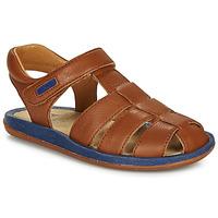 鞋子 儿童 凉鞋 Camper 看步 BICHO 棕色 / 海蓝色