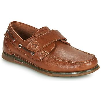 鞋子 男士 船鞋 Fluchos 富乐驰 POSEIDON 棕色