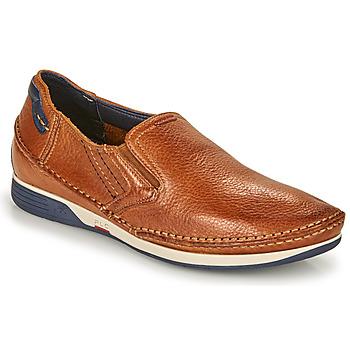 鞋子 男士 平底鞋 Fluchos 富乐驰 JAMES 棕色 / 海蓝色