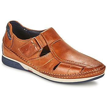 鞋子 男士 凉鞋 Fluchos 富乐驰 JAMES 棕色 / 海蓝色 / 红色