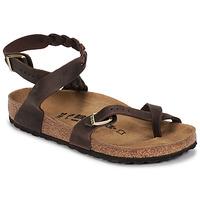 鞋子 女士 凉鞋 Birkenstock 勃肯 YARA LEATHER 棕色