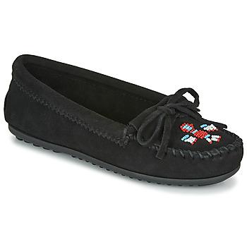 鞋子 女士 皮便鞋 Minnetonka THUNDERBIRD II 黑色