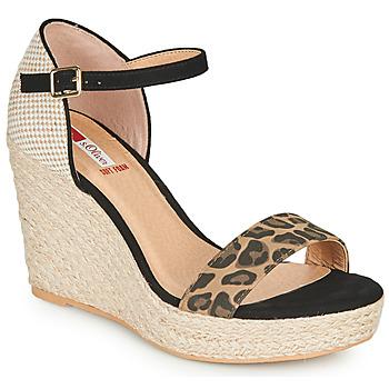 鞋子 女士 凉鞋 S.Oliver NOULATI 黑色 / Leopard