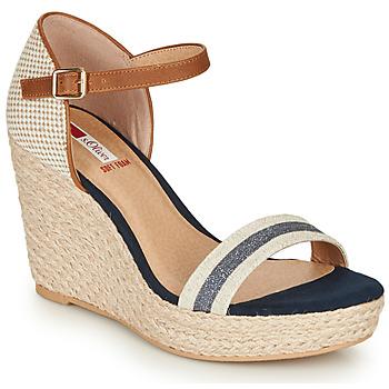 鞋子 女士 凉鞋 S.Oliver NOULATI 米色 / 海蓝色