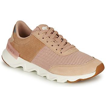 鞋子 女士 球鞋基本款 Sorel KINETIC LITE LACE 米色 / 玫瑰色
