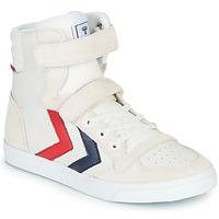 鞋子 儿童 高帮鞋 Hummel SLIMMER STADIL LEATHER HIGH JR 白色