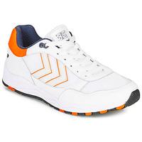 鞋子 男士 球鞋基本款 Hummel 3-S SPORT 白色 / 橙色