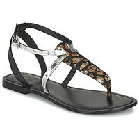 鞋子 女士 凉鞋 Les P'tites Bombes ALIX 黑色 / 银灰色