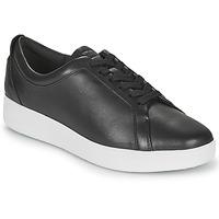 鞋子 女士 球鞋基本款 FitFlop RALLY SNEAKERS 黑色