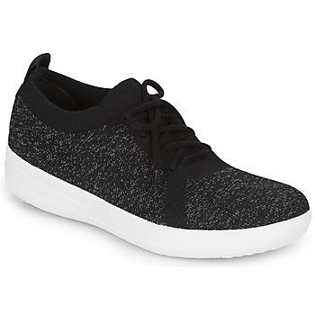 鞋子 女士 球鞋基本款 FitFlop F-SPORTY UBERKNIT SNEAKERS 黑色