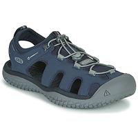 鞋子 男士 运动凉鞋 Keen SOLR SANDAL 蓝色 / 灰色