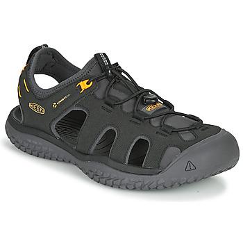 鞋子 男士 运动凉鞋 Keen SOLR SANDAL 黑色