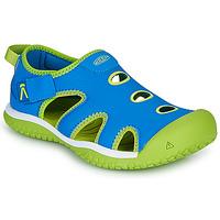 鞋子 儿童 运动凉鞋 Keen STINGRAY 蓝色 / 绿色