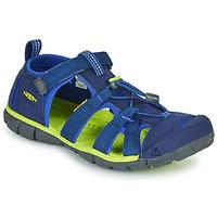 鞋子 儿童 运动凉鞋 Keen SEACAMP II CNX 蓝色 / 绿色