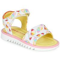 鞋子 女孩 凉鞋 Agatha Ruiz de la Prada 阿嘉莎·鲁兹·德 SMILES 白色 / 多彩