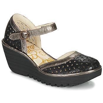 鞋子 女士 高跟鞋 Fly London YVEN 黑色 / 古銅色