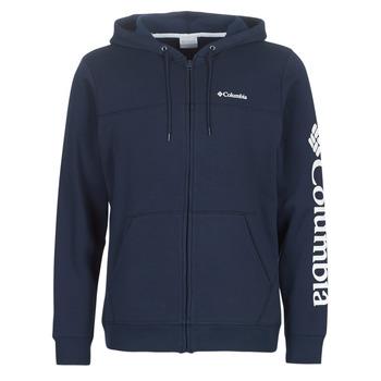 衣服 男士 卫衣 Columbia 哥伦比亚 COLUMBIA LOGO FLEECE FULL ZIP 蓝色
