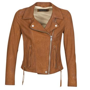 衣服 女士 皮夹克/ 人造皮革夹克 Oakwood ANGIE 棕色
