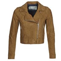 衣服 女士 皮夹克/ 人造皮革夹克 Oakwood PHOEBE 棕色 / Suede