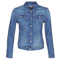 衣服 女士 牛仔外套 Pepe jeans THRIFT 藍色 / Edium
