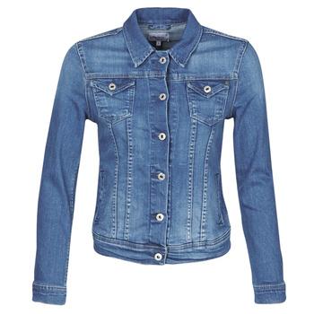 衣服 女士 牛仔外套 Pepe jeans THRIFT 蓝色 / Edium