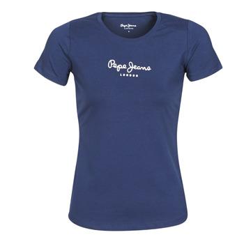 衣服 女士 短袖体恤 Pepe jeans NEW VIRGINIA 海蓝色