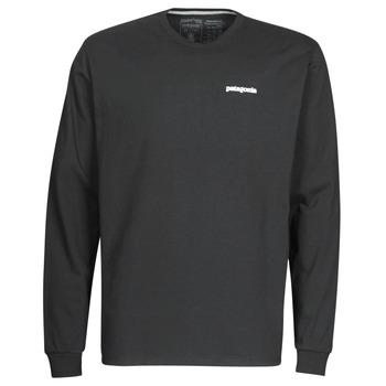 衣服 男士 长袖T恤 Patagonia 巴塔哥尼亚 M's L/S P-6 Logo Responsibili-Tee 黑色