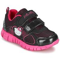 鞋子 女孩 球鞋基本款 Hello Kitty 凯蒂猫 BASEMO PHYL 黑色