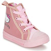 鞋子 女孩 高帮鞋 Hello Kitty 凯蒂猫 TANSIOUR 玫瑰色