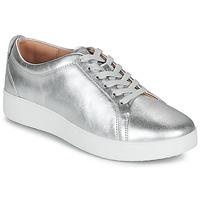 鞋子 女士 球鞋基本款 FitFlop RALLY SNEAKERS 银灰色