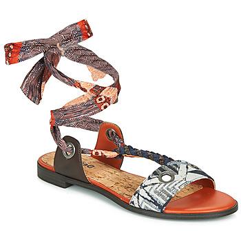 鞋子 女士 凉鞋 Desigual JUNGLE AFRICA 海蓝色 / 白色