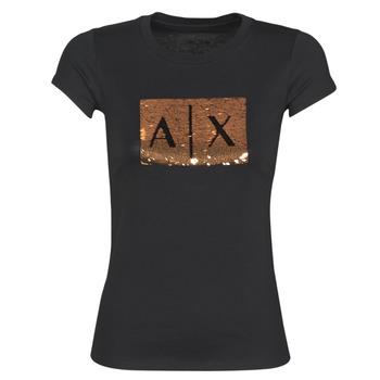 衣服 女士 短袖体恤 Armani Exchange HONEY 黑色