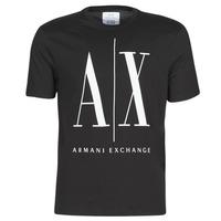 衣服 男士 短袖体恤 Armani Exchange HULO 黑色