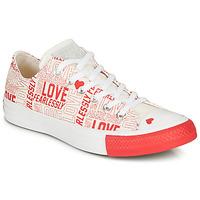 鞋子 女士 球鞋基本款 Converse 匡威 CHUCK TAYLOR ALL STAR - OX 白色 / 红色