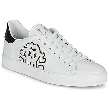 鞋子 男士 球鞋基本款 Roberto Cavalli 罗伯特·卡沃利 1005 白色 / 黑色