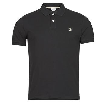 衣服 男士 短袖保罗衫 U.S Polo Assn. 美国马球协会 INSTITUTIONAL POLO 黑色