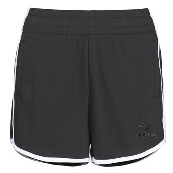 衣服 女士 短裤&百慕大短裤 Converse 匡威 TWISTED VARSITY SHORT 黑色