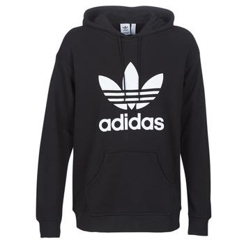 衣服 女士 衛衣 Adidas Originals 阿迪達斯三葉草 TRF HOODIE 黑色