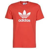 衣服 男士 短袖体恤 Adidas Originals 阿迪达斯三叶草 TREFOIL T-SHIRT 红色