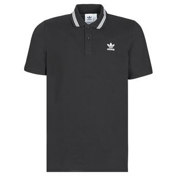 衣服 男士 短袖保羅衫 Adidas Originals 阿迪達斯三葉草 PIQUE POLO 黑色